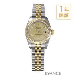 ロレックス デイトジャスト 179173G シャンパン レディース ROLEX (中古)|evance-web