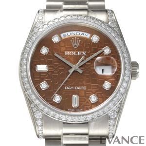 ロレックス デイデイト Ref.118389A ハバナ (彫りコンピューター) 10Pダイヤモンド ROLEX (新品) evance-web