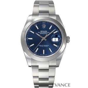 ロレックス デイトジャスト41 126300 ブルー メンズ ROLEX (新品)|evance-web