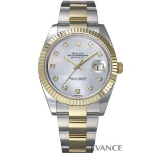 ロレックス デイトジャスト41 126333G ホワイトマザーオブパール メンズ ROLEX (新品) evance-web