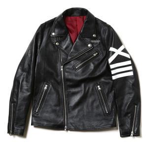 RADIO EVA 634 EVANGELION XIII Leather Riders Jacketブラック|evastore