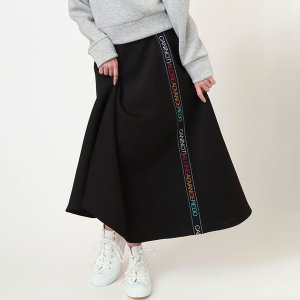 【FLOWER by RADIO EVA 008】 CAN(NOT) Flared Line Skirt/ブラック|evastore