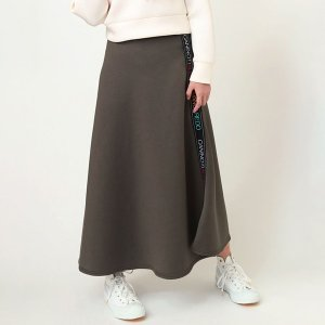 【FLOWER by RADIO EVA 008】 CAN(NOT) Flared Line Skirt/カーキ|evastore