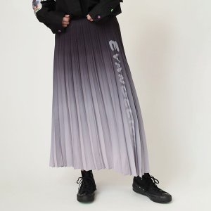 【FLOWER by RADIO EVA 006】Gradation Pleated Skirt/ブラック|evastore
