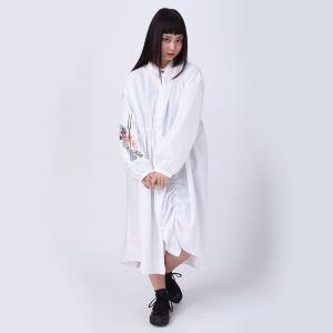 【FLOWER by RADIO EVA 015】 Longinus Embroidery Dress/WHITE|evastore