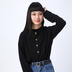 【FLOWER by RADIO EVA 016】 NERV Layered Long T-Shirt/BLACK[お届け予定:2020年2月下旬]|evastore