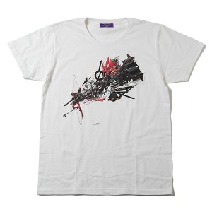 RADIO EVA 408 Abstract EVANGELION T-Shirt(KENTA KAKIKAWA)/改2号機β(ホワイト)|evastore
