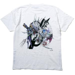 RADIO EVA 703 Abstract EVANGELION T-Shirt β(KENTA KAKIKAWA)/初号機 β(ホワイト)[お届け予定:2020年5月中旬] evastore