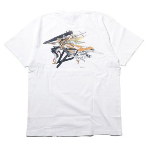 RADIO EVA 703 Abstract EVANGELION T-Shirt β(KENTA KAKIKAWA)/零号機(ホワイト)[お届け予定:2020年5月中旬] evastore