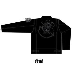 EVA×錦 初号機NERVマーク刺繍レザートラッカージャケット|evastore