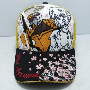 【EVAx錦】レイ&桜メッシュキャップ/WHITE|evastore