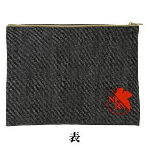 EVA STORE TOKYO-01オリジナル デニムポーチNERVマーク刺繍 evastore