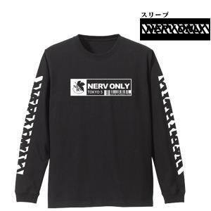エヴァンゲリオン NERV袖リブロングスリーブTシャツ/黒(COSPA)<span class=