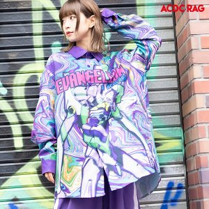 【EVANGELION x ACDC RAG】サイケデリックエヴァンゲリオンシャツ|evastore