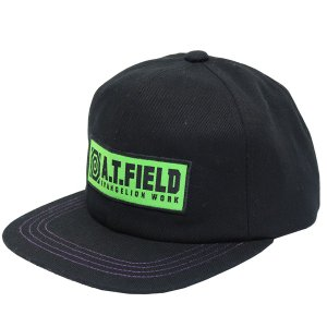 【ワークブランドA.T.FIELD】ベースボールキャップ/初号機(黒)(角利産業)|evastore