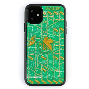 FLASH NERV 基板アート iPhone11ケース/緑(電子技販)