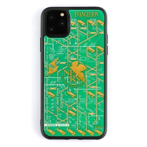 FLASH NERV 基板アート iPhone11Pro Maxケース/緑(電子技販)