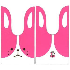 かわいい耳付き袋(中) うさぎツートン(ピンク) 50枚入|event-goods