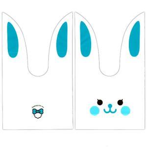 かわいい耳付き袋(小) うさぎ(白青) 50枚入|event-goods
