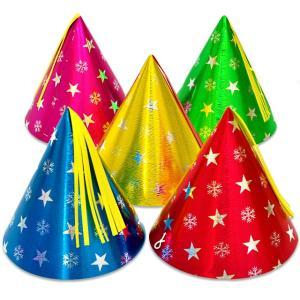 【大人・子供兼用サイズ】スタースノーホイル帽子【小】(三角帽子) 1個|event-goods