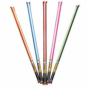 ■バルーンの中にある袋を外からつぶすと、 ゆっくり膨らんで棒状のおもちゃの剣になります。  ■色アソ...