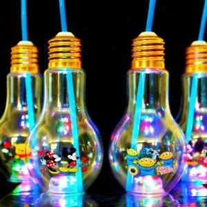 ディズニー電球ボトル約500ml(電球ソーダ用ボトル 光る容器) 24入|event-goods