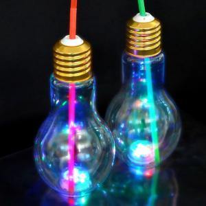 【50入】LED光る電球ボトル約500ml(電球ソーダ用ボトル 光る容器) 50入|event-goods