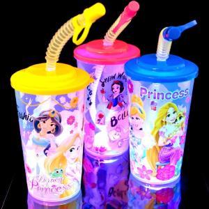光るディズニープリンセスストローコップ 6個入(電球ボトル類似品 光る容器)|event-goods