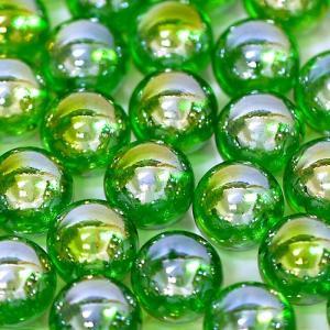 【ビー玉】 17mm オーロラカラーマーブル 200入【グリーン】|event-goods