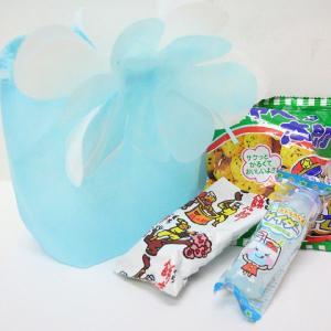 ブルーミング巾着(大)のラッピング袋入り お菓子詰め合わせ 1個|event-goods