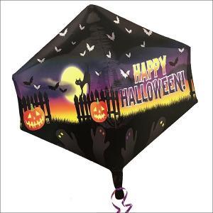 [在庫限り]装飾用ハロウィン風船 スクエア3Dバルーン W53cm|event-ya