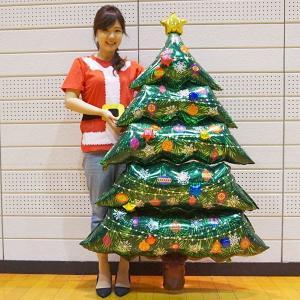 クリスマス装飾風船 超BIG クリスマスツリーバルーン H155cm ポンプ付/動画有|event-ya