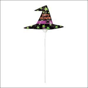 装飾用ハロウィンスティック風船 ウィッチハット/ フォトプロップス|event-ya