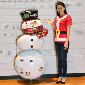 クリスマス装飾風船 スノーマンスタッカー H154cm(ポンプ付)/バルーン 飾り デコレーション|event-ya
