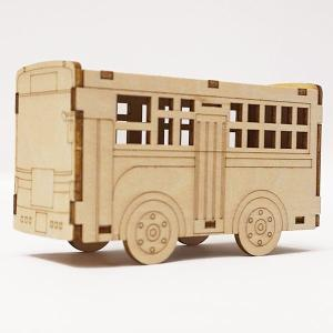 木製工作キット お絵かきバス LEDライト付き 10個 / 手作り工作 色塗り お絵描き|event-ya