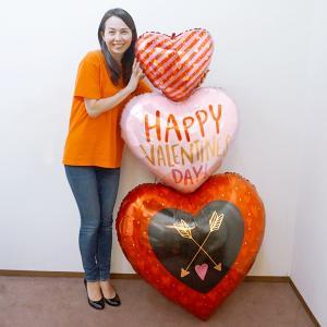 バレンタイン風船 ハッピーバレンタインカルテットハート H157cm/メール便可|event-ya