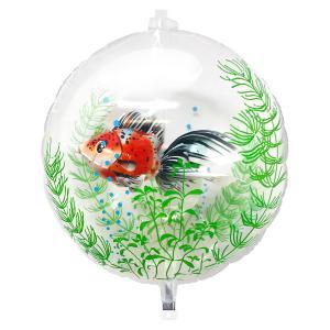 夏の装飾風船 涼しげな金魚ちゃんバルーン 40cm /メール便5枚まで可|event-ya