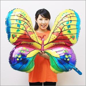 夏の装飾風船 カラフル蝶々 78cm/メール便可|event-ya