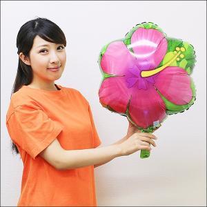 夏の装飾風船 ハイビスカス 45cm / バルーン 飾り/メール便5枚まで可|event-ya