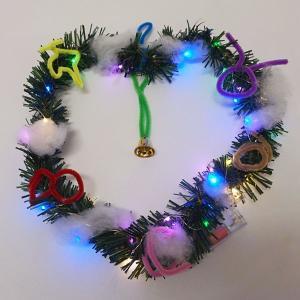 イルミネーションライト付き 手作りクリスマスリース 10個|event-ya