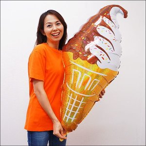 夏の装飾風船 ソフトクリーム H81cm/メール便可|event-ya