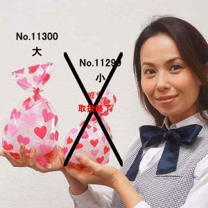 バレンタインラッピング用品  ビニールラッピングバッグ(大) タイ付 20枚|event-ya