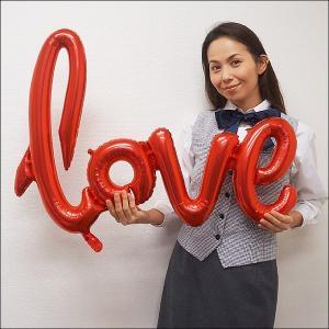 ブライダル装飾風船 文字バルーン「love」ラブスクリプト 赤/メール便可|event-ya