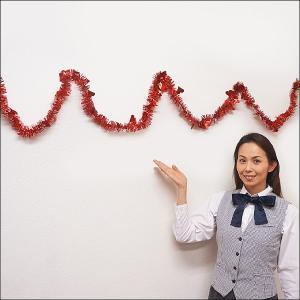 バレンタイン装飾 ハートモールレッドバナー270cm×2本/ 動画有