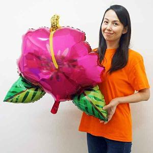夏の装飾風船 トロピカルハイビスカス H68cm|event-ya