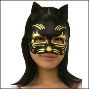 パーティお面 黒キャッツ[猫・ネコ]  / マスク・かぶりもの・仮面|event-ya