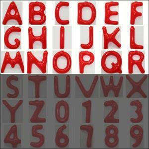 英語(英字)POPバルーン 赤 [A〜Rからお選び下さい](※S〜Zは別ページ) / アルファベット バルーン 風船  [動画有]|event-ya