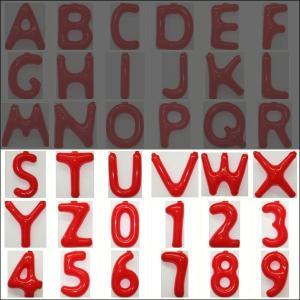 英語(英字)POPバルーン 赤 [S〜Z・0〜9からお選び下さい](※A〜Rは別ページ) / アルファベット バルーン 風船  [動画有]|event-ya