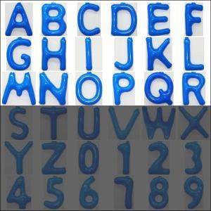 英語(英字)POPバルーン 青 [A〜Rからお選び下さい](※S〜Zは別ページ) / アルファベット バルーン 風船  [動画有]|event-ya
