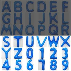 英語(英字)POPバルーン 青 [S〜Z・0〜9からお選び下さい](※A〜Rは別ページ) / アルファベット バルーン 風船  [動画有]|event-ya